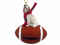 English Setter Belton Orange Football Ornament