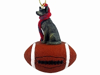 Australian Cattle BlueDog Football Ornament