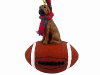 Bullmastiff Football Ornament