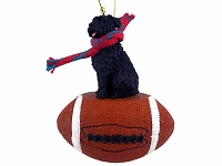 Bouvier des Flandres Football Ornament