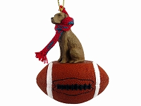 Vizsla Football Ornament