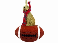 Soft Coated Wheaten Terrier Football Ornament