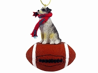 Australian Shepherd Blue Football Ornament