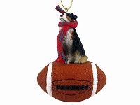 Australian Shepherd Tricolor Football Ornament