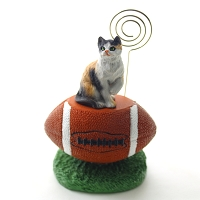 Calico Shorthaired Football Memo Holder