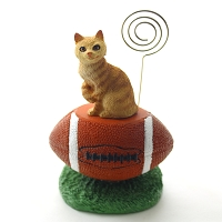 Red Tabby Manx Football Memo Holder
