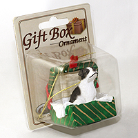 Ornament Gift Box Green Dogs