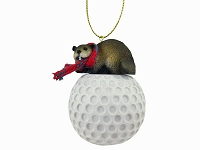 Beaver Golf Ornament