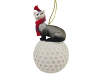 Ferret Golf Ornament