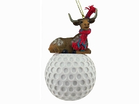 Long Horn Steer Golf Ornament