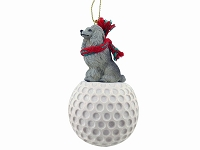 Poodle Gray golf Ornament