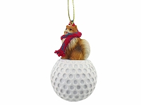 Pomeranian Red golf Ornament