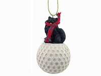 Pomeranian Black golf Ornament