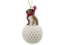 Bulldog golf Ornament