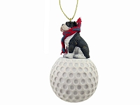 Bulldog Brindle golf Ornament