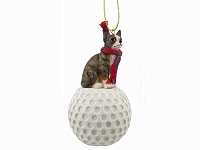 Chihuahua Brindle & White golf Ornament