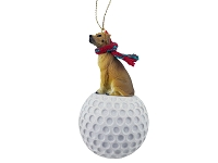 Great Dane Fawn w/Uncropped Ears golf Ornament