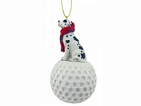 Great Dane Harlequin w/Uncropped Ears golf Ornament