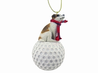 Jack Russell Terrier Brown & White w/Smooth Coat golf Ornament