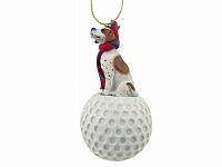 Pointer Brown & White golf Ornament