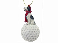 Pointer Black & White golf Ornament