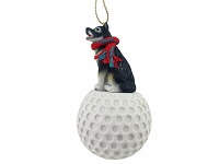 Alaskan Malamute golf Ornament