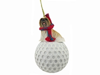 Lhasa Apso Brown golf Ornament