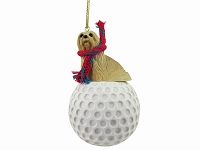 Lhasa Apso Blonde golf Ornament