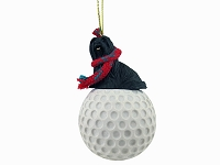 Lhasa Apso Black golf Ornament