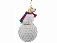 Clumber Spaniel golf Ornament