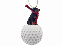 Rottweiler golf Ornament