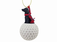 Cocker Spaniel English Black golf Ornament