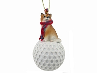Chihuahua Longhaired golf Ornament