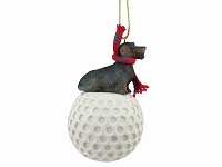 Wire Haired Dachshund golf Ornament