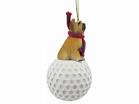 Briard golf Ornament