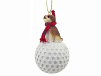 Shih Tzu Tan w/Sport Cut golf Ornament