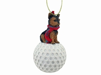 Yorkshire Terrier Puppycut golf Ornament