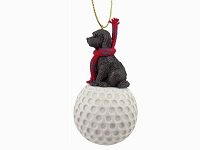 Labradoodle Chocolate golf Ornament