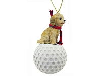 Cockapoo Blond golf Ornament
