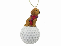 Goldendoodle golf Ornament