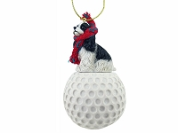 Cocker Spaniel Black & White golf Ornament