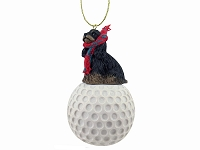 Cocker Spaniel Black & Tan golf Ornament