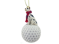 Great Dane Harlequin golf Ornament