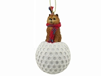 Chow Red golf Ornament