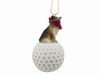 Collie Sable golf Ornament