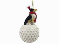 Collie Tricolor golf Ornament