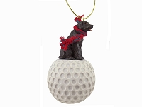 Labrador Retriever Chocolate golf Ornament