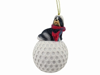 Shih Tzu Black & White golf Ornament