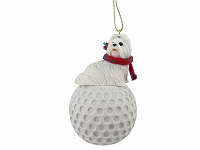 Shih Tzu White golf Ornament