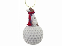 Brittany Brown & White Spaniel golf Ornament